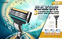 Anúncio novo dos barbeadores ilustração royalty free