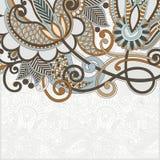 Anúncio ornamentado do cartão Fotos de Stock Royalty Free