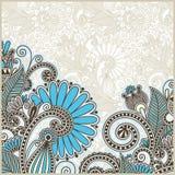 Anúncio ornamentado do cartão Foto de Stock Royalty Free