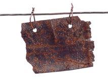 Anúncio oxidado Imagem de Stock