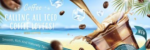 Anúncio publicitário congelado do café ilustração stock