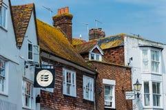 Anúncio publicitário de Rye Sussex do leste fotos de stock royalty free