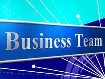 Anúncio publicitário de Team Represents Networking Unity And do negócio ilustração stock