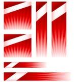 Anúncios da bandeira do Web site do estouro da luz Foto de Stock
