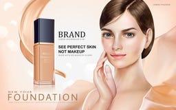 Anúncios da composição da fundação ilustração royalty free
