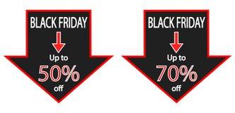 Anúncios das economias de Black Friday Fotos de Stock Royalty Free