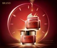 anúncios de creme do Anti-enrugamento ilustração stock