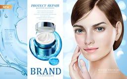 Anúncios dos cuidados com a pele ilustração royalty free