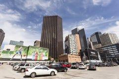 Anúncios publicitários em Dallas do centro, EUA foto de stock royalty free