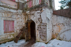 An Abandoned Old Mansion In Russia.Fragments Of The Manor Demidov Stock Images