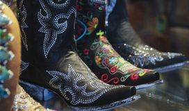 Free An Arrangement Of Ladies Spangly Cowboy Boots Stock Image - 102285771