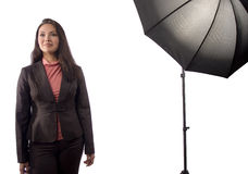 An Asian Woman During A Photoshoot Stock Images