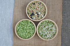 Free An Assortment Of Legumes And Cereals On A Sackcloth Royalty Free Stock Photography - 58633767