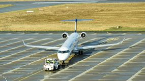 Free An Bombardier CRJ900 Aircraft Of Lufthansa Subsidiary Lufthansa Regional Is Ready For Take-off At Dresden International Airport Stock Photos - 147524033
