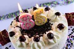 Free An Concept Image Of A Birthday Cake With Candle - 85 Royalty Free Stock Images - 106826589
