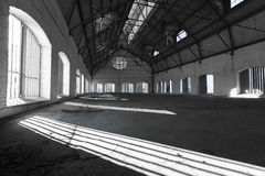 Free An Empty Desolate Industrial Building Inside Stock Photo - 37609120