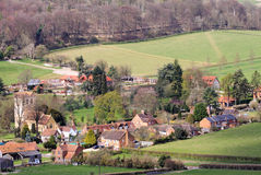 An English Village Landscape Royalty Free Stock Photography