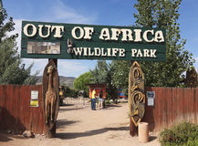 An Entrance To Out Of Africa Wildlife Park Royalty Free Stock Photo
