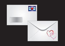 An Envelope With A Postage Stamp Stock Photos