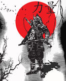 An Hand Drawn Vector From Japan Culture - Samurai, Shogun Stock Photos