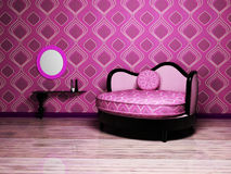 An Interesting Sofa And A Table Royalty Free Stock Image