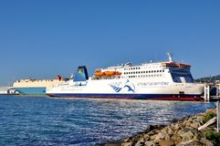 Free An Interislander Ferry At The Dock Stock Photography - 116886342
