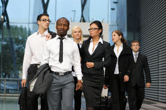 An International Business Team In Formal Clothes Royalty Free Stock Images