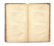 An Old Book With Blank Yellow Stained Pages Royalty Free Stock Photo
