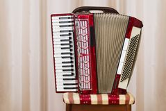 An Old Retro Accordion Stock Photography