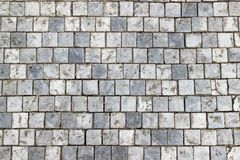 Free An Old Stoneblock Pavement Cobbled With Square Stone Blocks Royalty Free Stock Image - 141813986