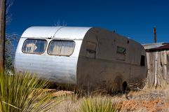 Free An Old Trailer And Broken Down Shack Royalty Free Stock Image - 6284616