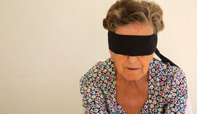 Free An Old Woman With Closed Mouth Royalty Free Stock Photography - 54609507