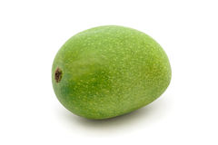 An Organic Green Indian Mango. Royalty Free Stock Photos