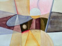 Free An Original Abstract Watercolour Painting; Fractured Theme Stock Photography - 164254222