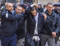 Free An Ultra-Orthodox Jew Was Arrested By The Police Royalty Free Stock Image - 170443606