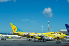 ANA airplane Stock Image