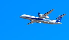 ANA Airplane Royalty Free Stock Photo