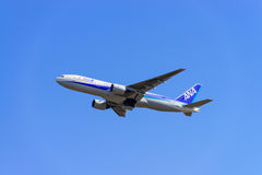 ANA Airplane Royalty Free Stock Photography