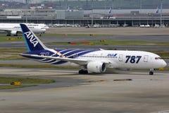 ANA All Nippon Airways Boeing 787 Dreamliner Τόκιο Haneda Airpor στοκ φωτογραφία