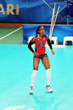 Ana binet. The volley player of the national team of dominican republic ana binet stock image