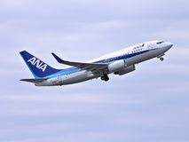 ANA Boeing 737 Stock Photo