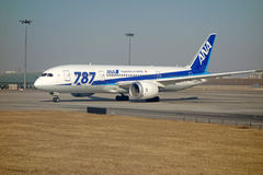 ANA boeing 787 Dreamliner Arkivfoton