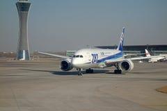 ANA boeing 787 Dreamliner Royaltyfri Fotografi