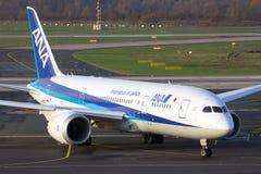 ANA boeing 787 Dreamliner Royaltyfria Bilder