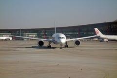 ANA boeing 787 Dreamliner. ANA inspiration of japan ,boeing 787 in Beijing Capital International Airport   terminal 3 Stock Image