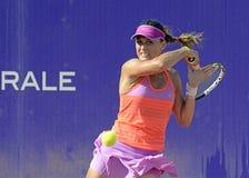 Ana Bogdan. Of Romania pictured during her WTA Bucharest Open match against Monica Niculescu of Romania. Niculescu won, 6-2, 5-7, 6-2 Stock Image