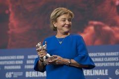 Ana Brun, vencedor do urso de prata para a melhor atriz em Berlinale 2018 Imagem de Stock Royalty Free