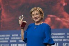 Ana Brun, vencedor do urso de prata para a melhor atriz em Berlinale 2018 Imagens de Stock