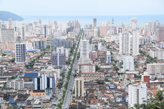 Ana costa avenue in Santos Brasil Royalty Free Stock Photography