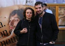 ` Ana, ` d'intrigue amoureuse de lundi - première de film à Bucarest Photos libres de droits